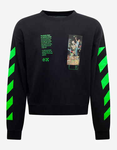 Off-White Black Pascal Painting Print Oversized Sweatshirt