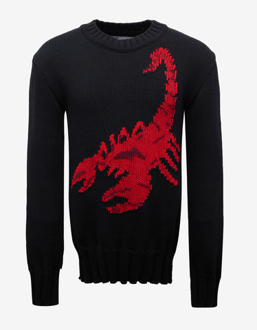 Off-White Black Scorpion Knit Sweater