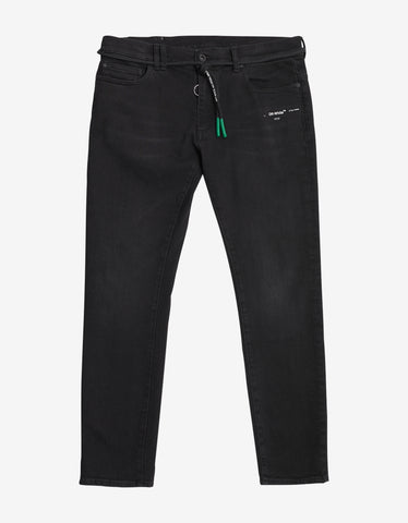 Black Short Length Skinny Jeans