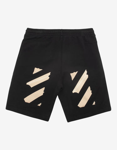Off-White Black Tape Arrows Print Sweat Shorts