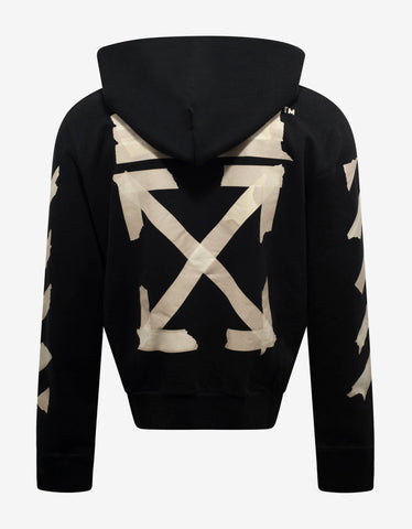Off-White Black Tape Arrows Print Zip Hoodie