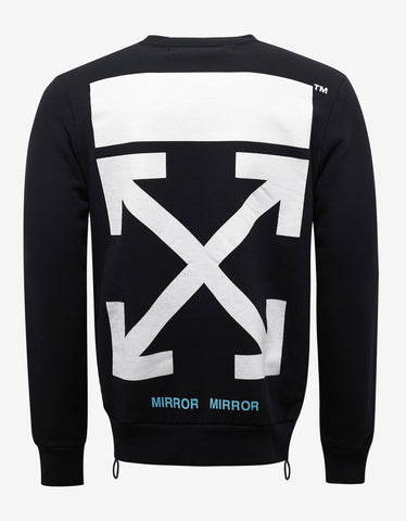 Off-White Black Tiger Patch Sweatshirt