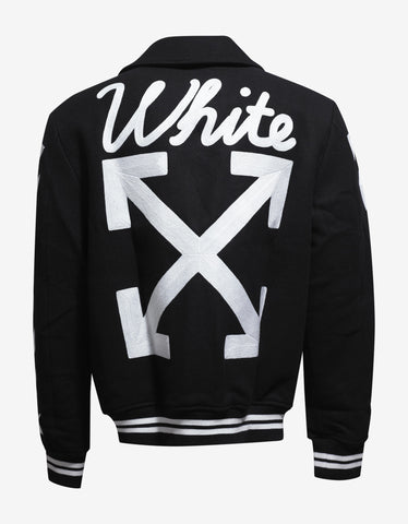 Off-White Black Varsity Jacket with Patches