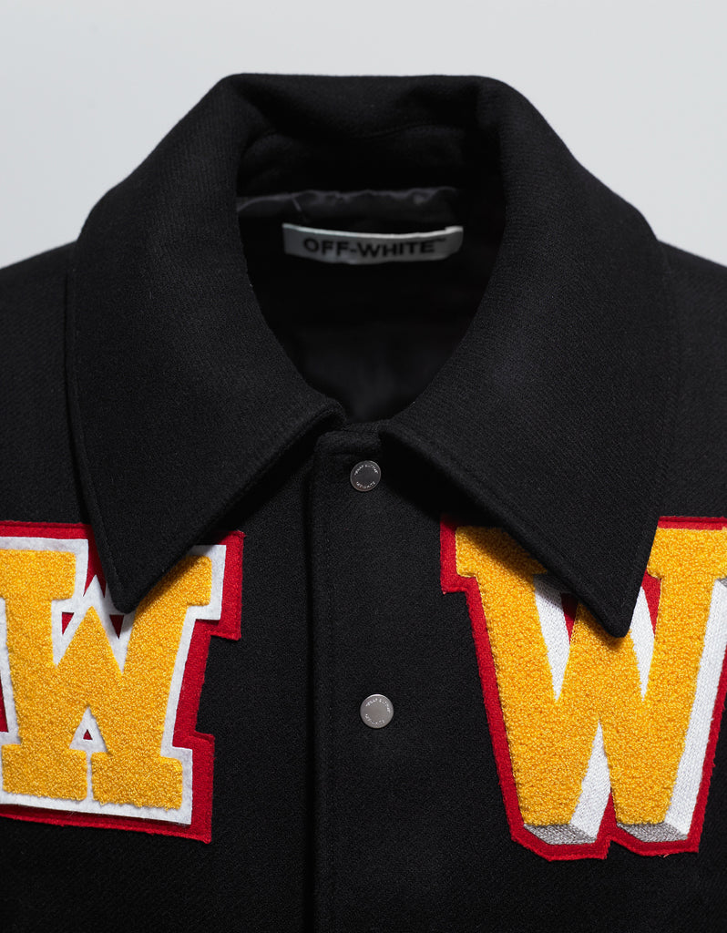Black Varsity Jacket with Patches