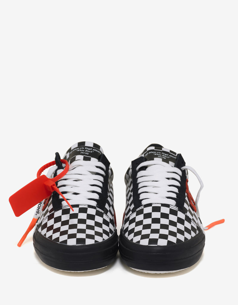 Black & White Check Vulc Low Top Trainers
