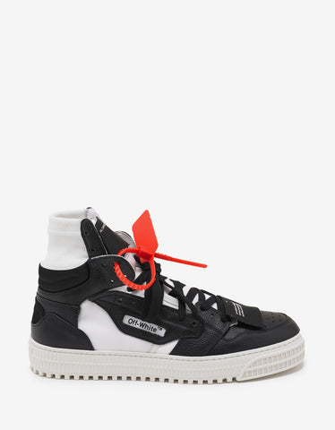 Off-White Black & White Off Court High Top Trainers