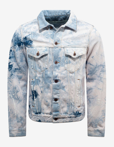 Off-White Bleach Wash Arrows Print Denim Jacket
