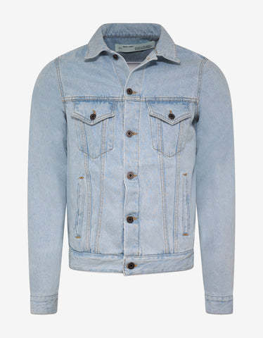 Off-White Blue Arrows Panel Insert Denim Jacket