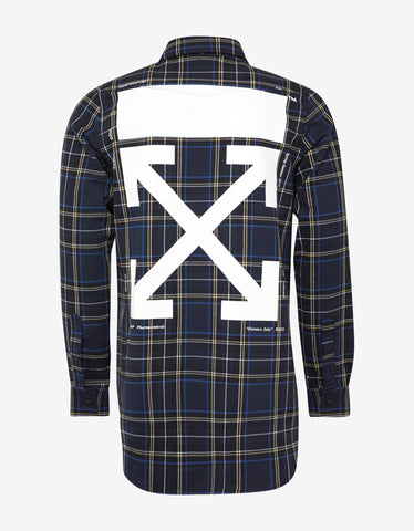 Off-White Blue Check Shirt