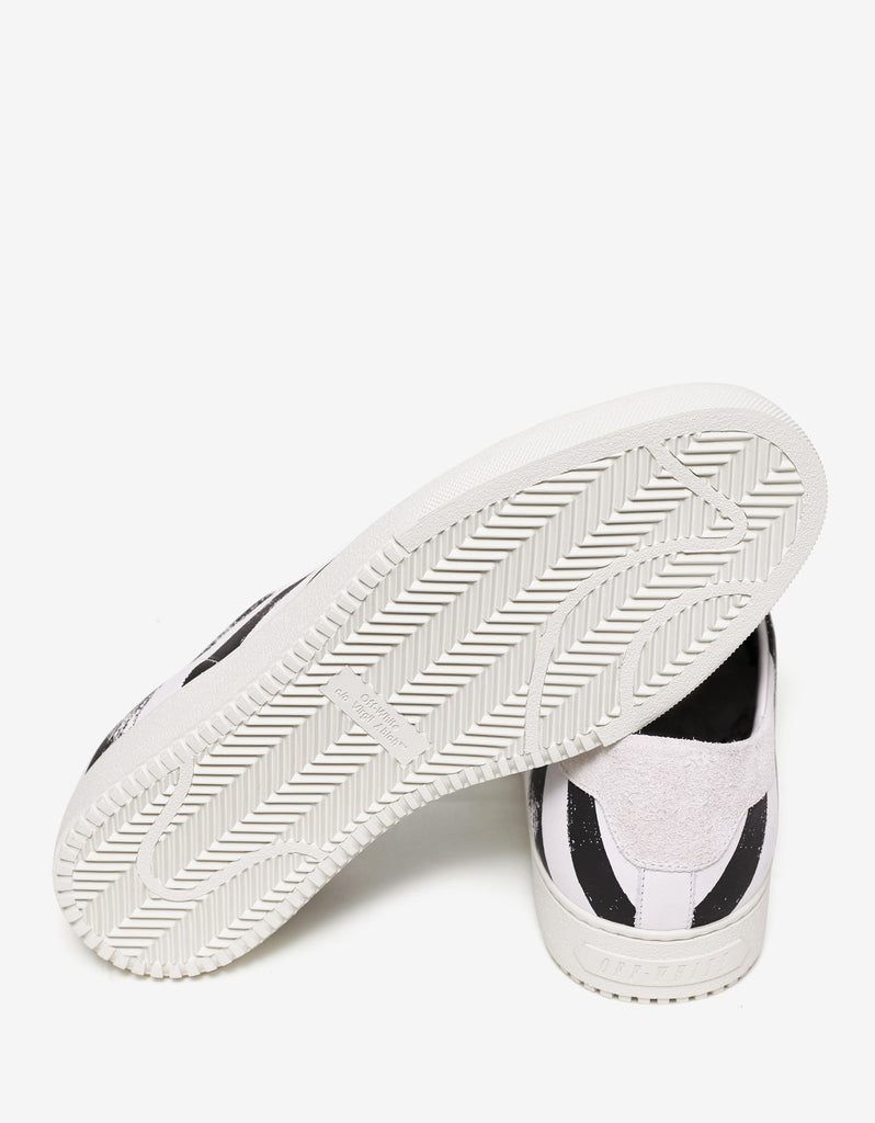Brushed Diagonals Leather Trainers