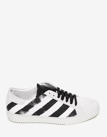 Off-White Brushed Diagonals Leather Trainers