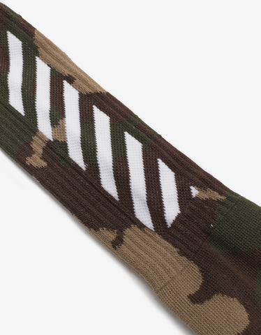 Off-White Camouflage Diagonal Stripe Socks
