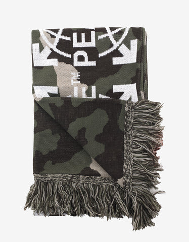 Off-White Camouflage Peace Scarf