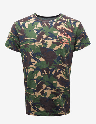Off-White Camouflage Print 'Peace By Design' T-Shirt