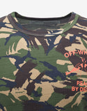 Camouflage Print 'Peace By Design' T-Shirt