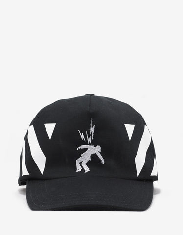 Off-White Diagonal Print & Electricity Black Cap