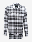 Diagonal Spray Print Check Shirt