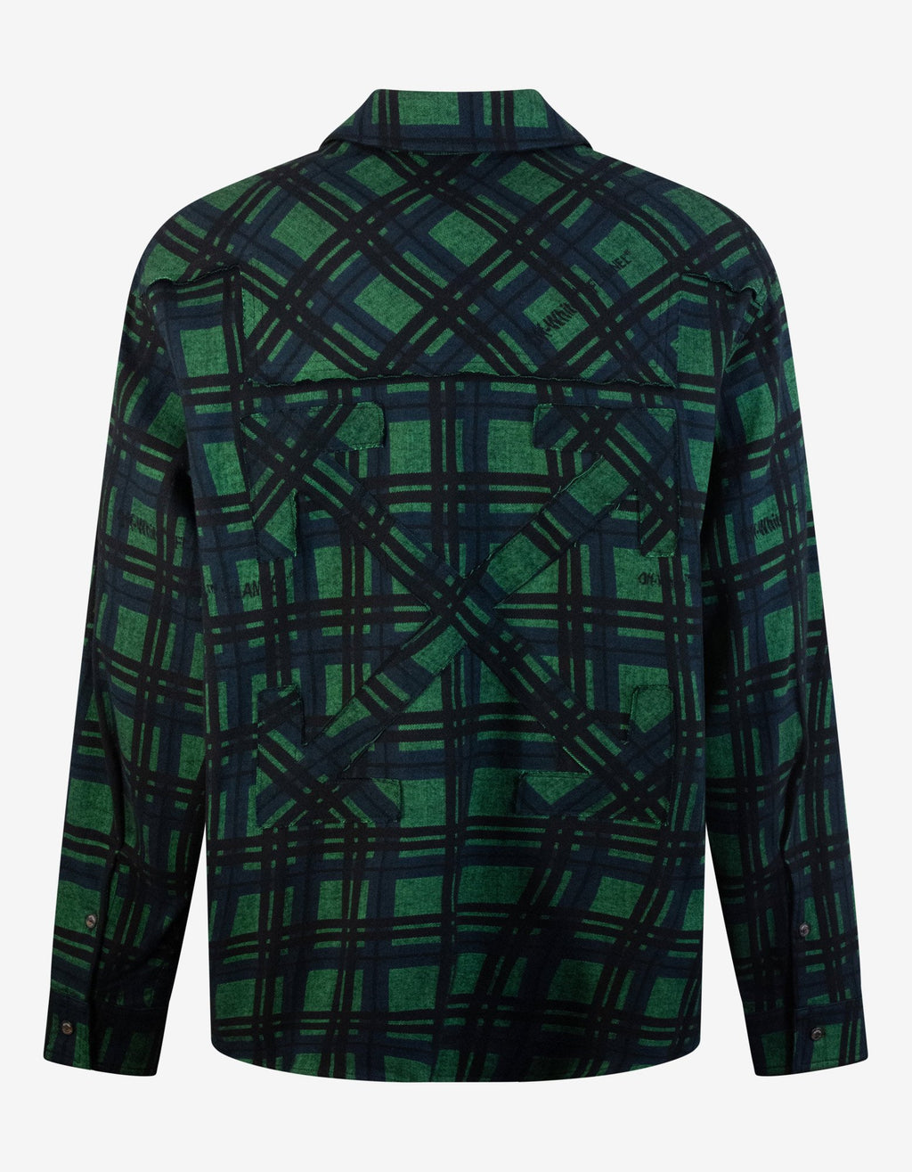 Green & Black Flannel Check Shirt -
