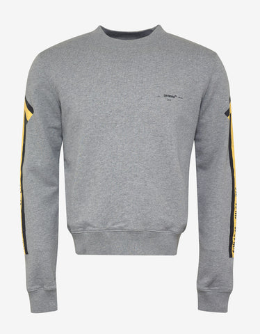 Off-White Grey Arrows Print Sweatshirt