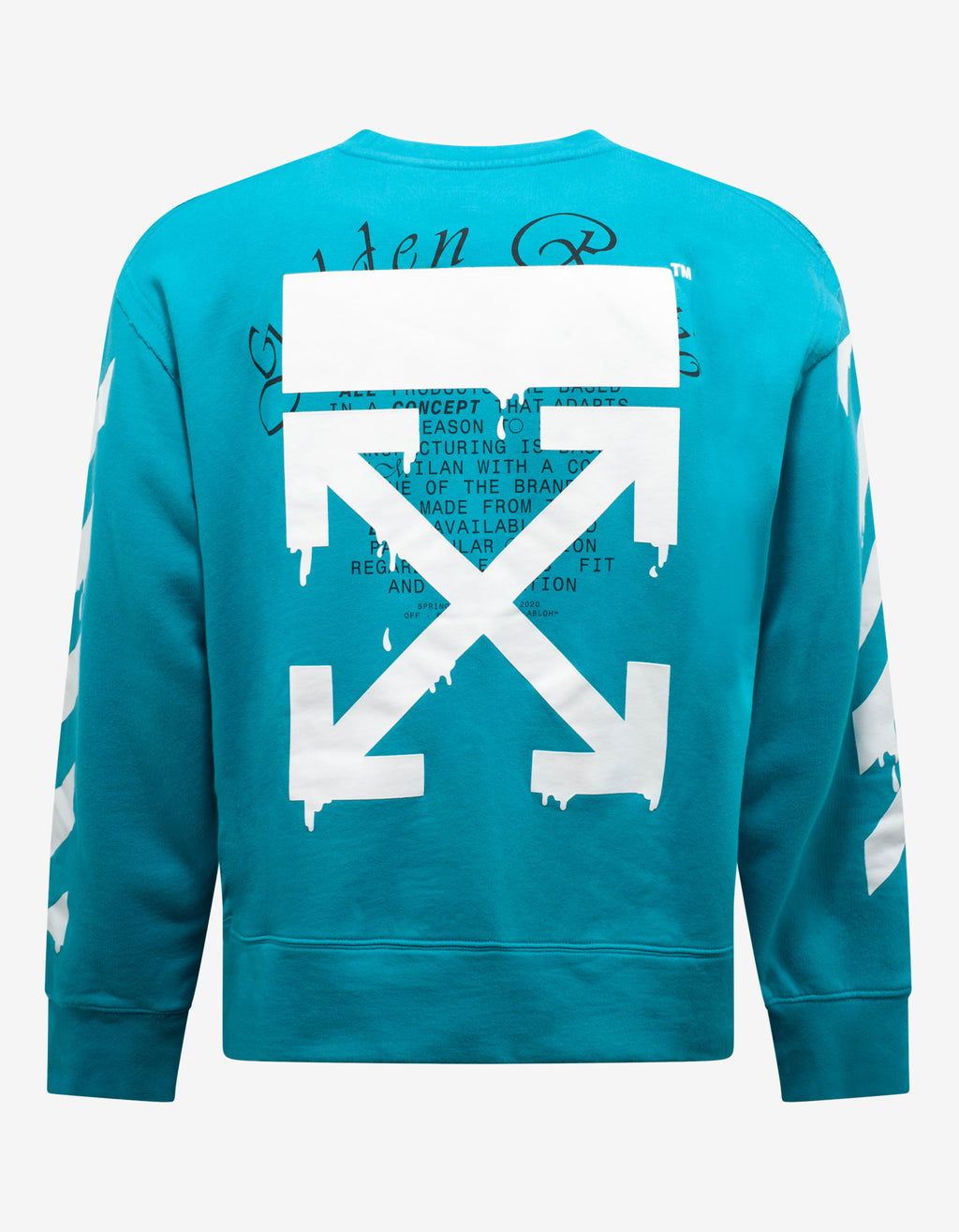 Light Blue Dripping Arrows Print Sweatshirt