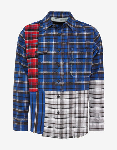 Off-White Multicolour Reconstructed Checked Shirt