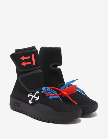 Off-White Black Moto Wrap High Top Trainers