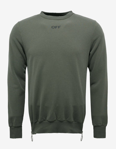 Off-White Olive Green Sweatshirt