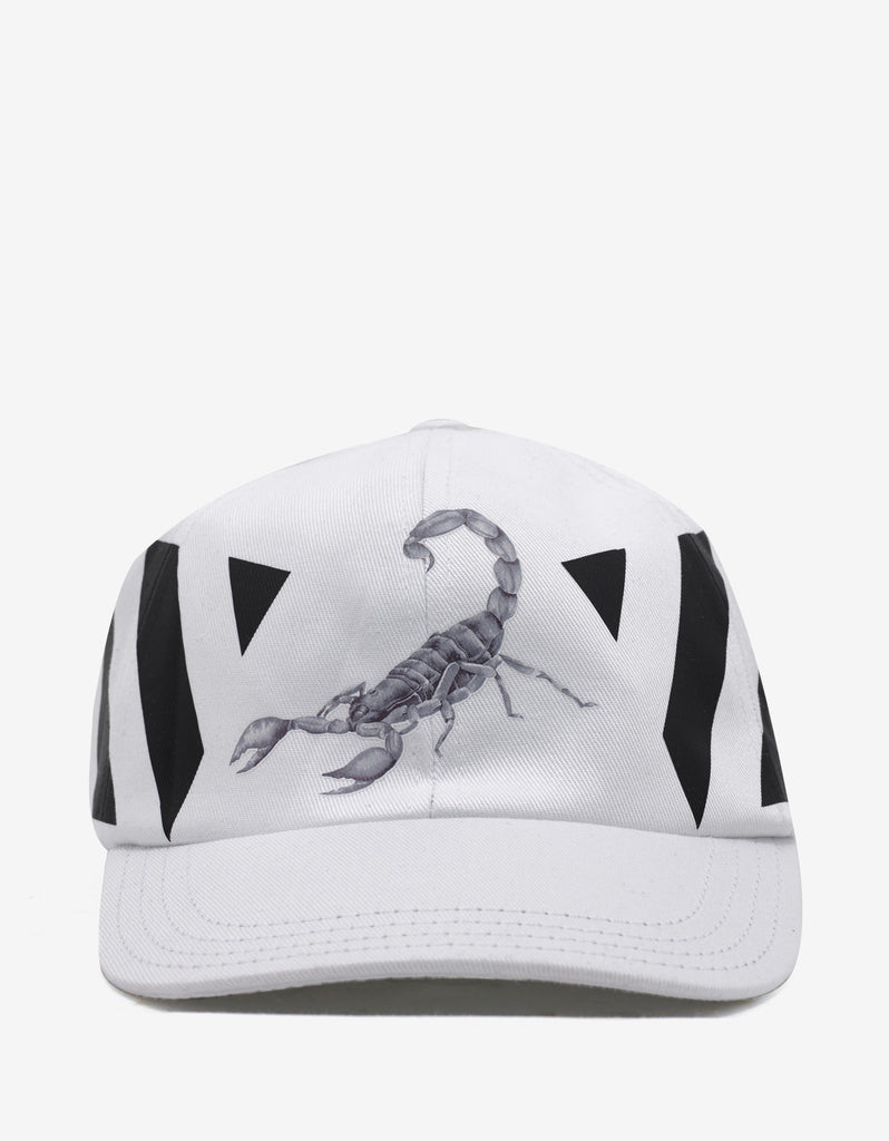 Othelo Scorpion Diagonal Print White Cap