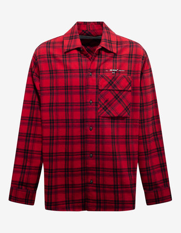 Off-White Red & Black Flannel Check Shirt