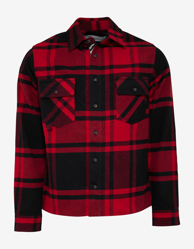 Red & Black Stencil Arrows Print Flannel Shirt