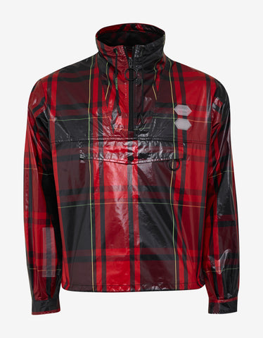 Red Check Arrows Print Anorak