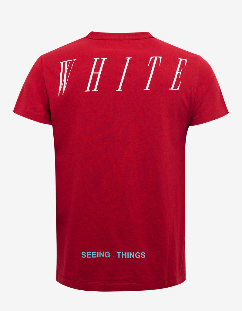 Off white red parachute print t shirt zoofashions com for T shirt printing one off