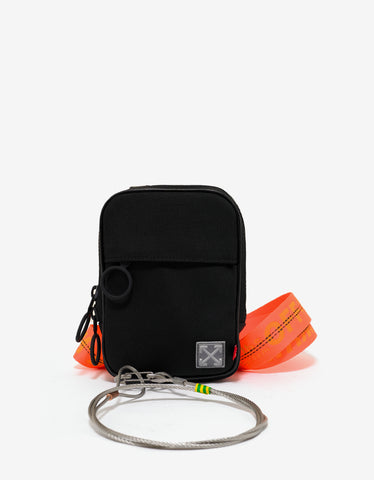 Off-White Tape Mini Crossbody Black Bag