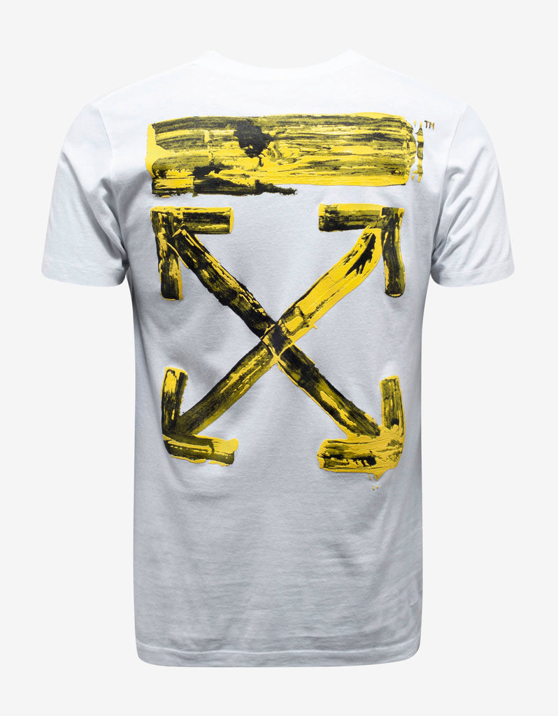 White Acrylic Arrows Print T-Shirt