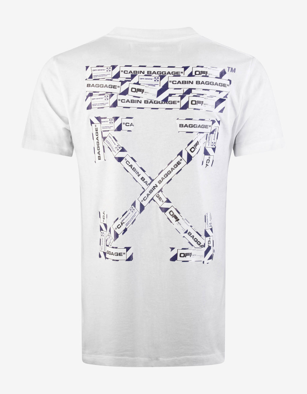 White Airport Tape Arrows Print T-Shirt