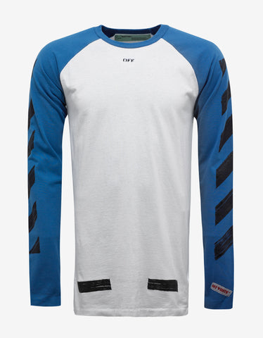 Off-White White Brushed Arrows Print Raglan T-Shirt
