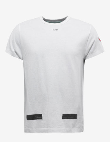 Off-White White Brushed Arrows Print T-Shirt