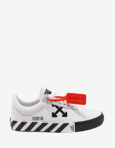 White Canvas Low Top Trainers