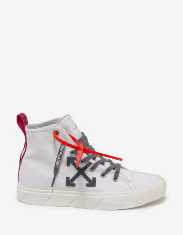 Off-White White Canvas Mid Top Trainers
