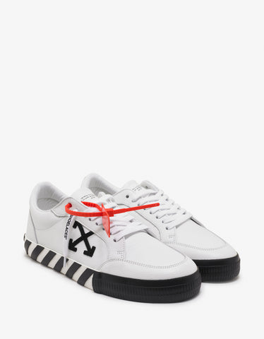 Off-White White Grain Leather Low Vulcanized Trainers