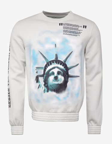 Off-White White Liberty Print Sweatshirt