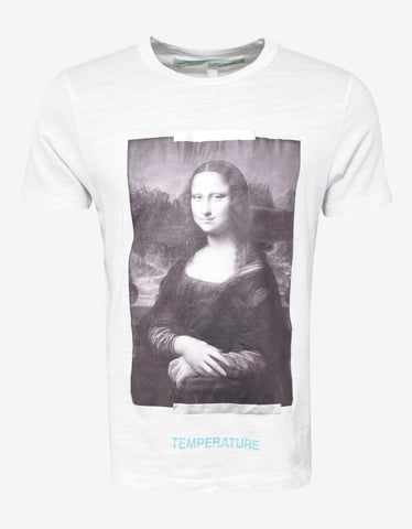Off-White White Mona Lisa Print T-Shirt