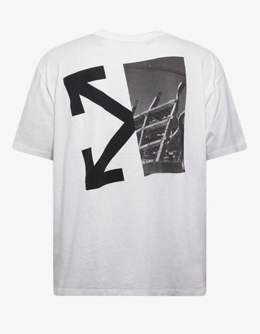 White Splitted Arrows Over T-Shirt