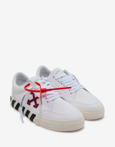 Off-White White & Violet Low Vulcanized Trainers
