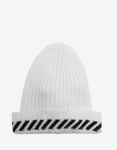 Off-White Diagonals White Beanie Hat