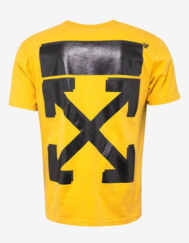 Off-White Yellow Champion Arrows Print T-Shirt