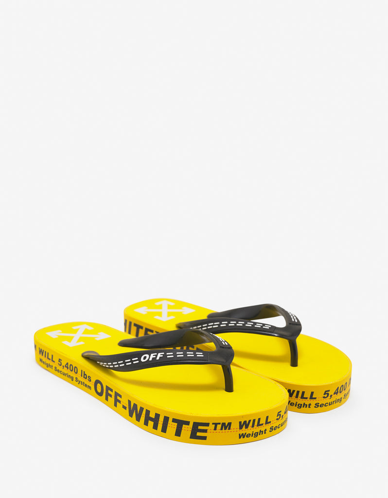 Yellow Industrial Flip Flops