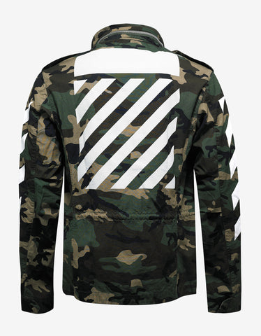 Off-White Green Camouflage M65 Jacket