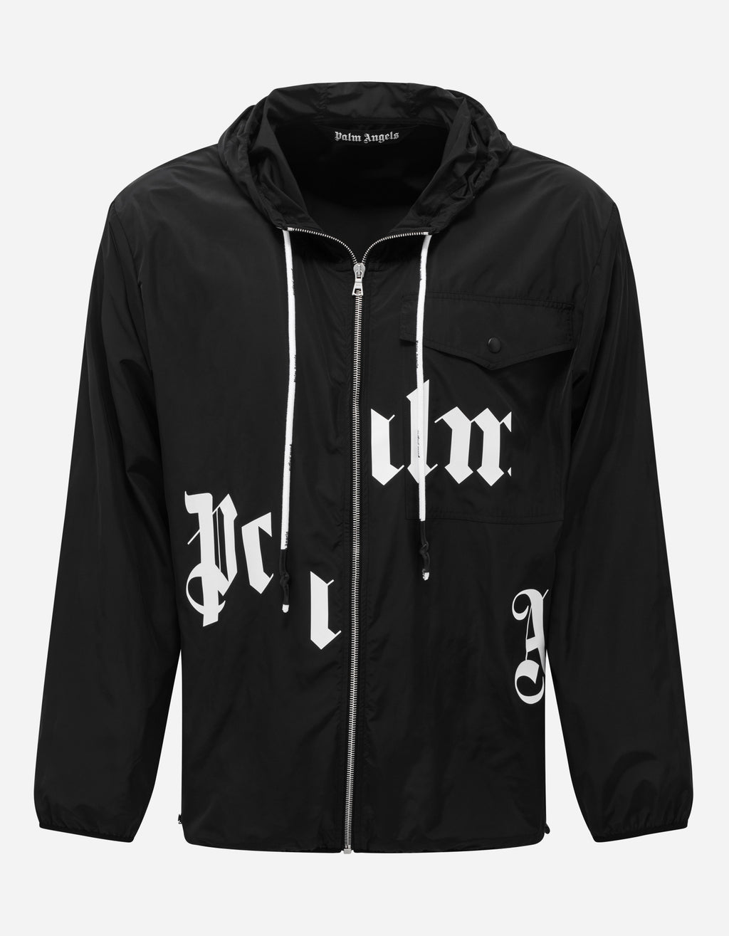 Black Broken Logo Windbreaker