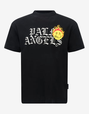 x Smiley Black Burning Head Logo T-Shirt